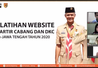 Website Pramuka Terpadu, Kwarda Jawa Tengah Pelopor Pemberitaan Kegiatan Kepramukaan