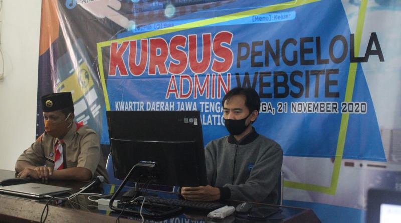 Pelatihan Tim Pengelola Website, Kwarcab Kota Salatiga Mantapkan Pemberitaan Kepramukaan