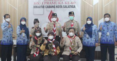 Kwarcab Kota Salatiga Menerima Penghargaan Juara 3 Pengelolaan Website Tingkat Kwarcab Se-Jawa Tengah